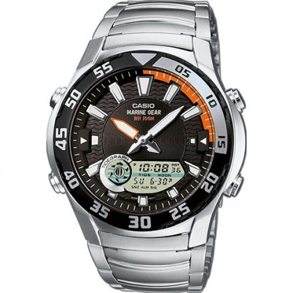 (ORIGINAL+1YR WARRANTY) CASIO AMW-710D-1A MEN'S MARINE GEAR CASUAL
