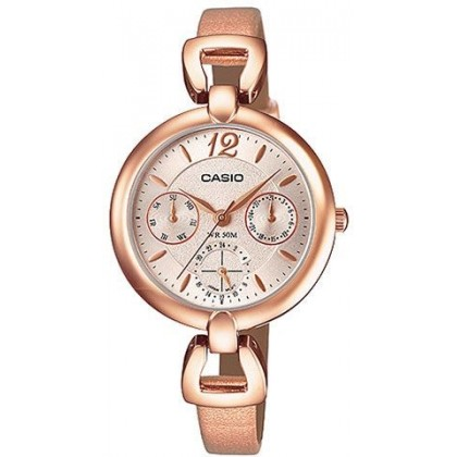 LTP-E401PL-9A CASIO LADIES PINK GOLD WATCH LTP-E401PL-9AV