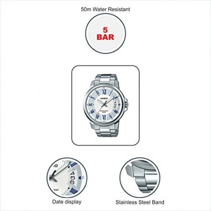 MTP-E130D-7A CASIO MEN ANALOG STEEL WATCH MTP-E130D-7AV