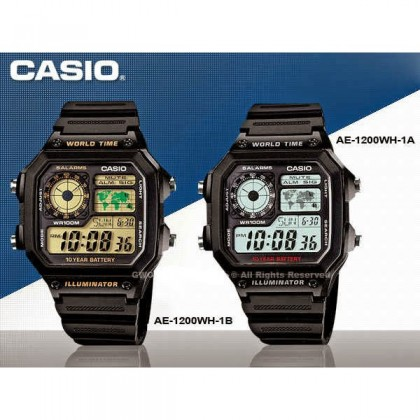 (ORIGINAL+1YR WARRANTY) CASIO MEN DIGITAL SPORT AE-1200WH SERIES