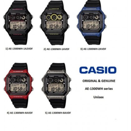 AE-1300WH SERIES CASIO MEN DIGITAL SPORT WATCH AE-1300WH
