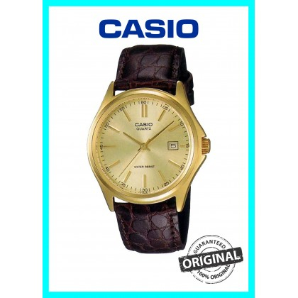 (ORIGINAL+1YR WARRANTY) CASIO MTP-1183Q-9A MEN ANALOGUE LEATHER CASUAL WATCH